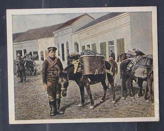 GERMANY TOBACCO CARD WWI 6x5 cms. SOLDIER, HORSE AAD5165
