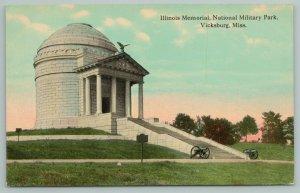 Vicksburg Mississippi~Illinois Memorial~National Military Park~Vintage Postcard