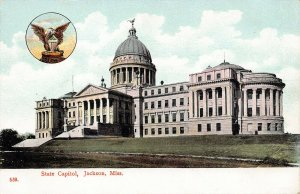 LP19 Jackson Mississippi Postcard State Capitol