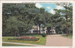 Officers Quarters And Flower Beds At Naval Hospital, PORTSMOUTH, Virginia, 1934