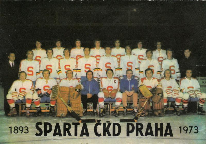 CZECH REPUBLIC , 1974 ; Ice Hockey Team AC SPARTA - SPARTA CKD PRAHA
