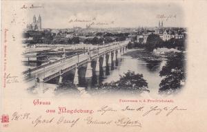 Gruss aus Magdeburg , Germany , PU-1899