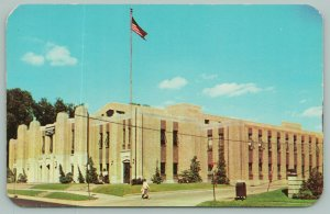 Rockford Illinois~National Guard Armory~Flagpole~Mailbox~1960s