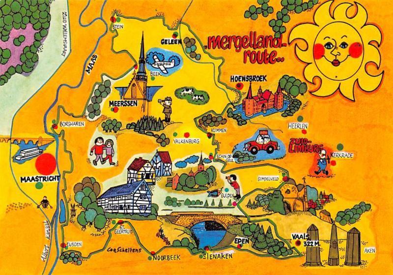 Netherlands Mergelland Route Map Maastricht Meerssen Valkenburg