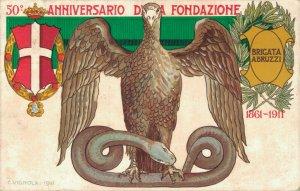 Militaire - 50 Anniversario Da Fondazione Brigata Abruzzi C.Vignola 1911 04.22