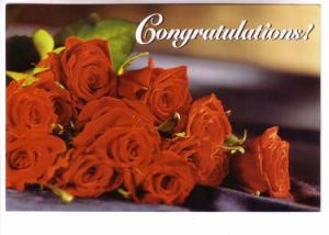 Bunch of Red Roses, Congratulations, Reader's Digest, 4.5 X 7 inch