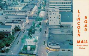 Night Scene, Lincoln Road Mall, MIAMI BEACH, Florida, 40-60´