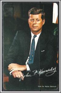 President John F Kennedy Memorial Card