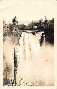 LPS50 Snoqualmie Falls Washington View of Falls Postcard RPPC