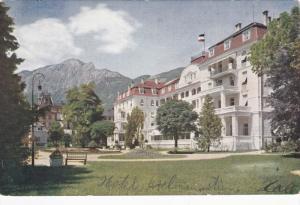 BAD REICHENHALL, Germany, 1900-1910's; Hotel Axelmannstein Mit Hochstauffen
