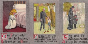 Our Father Which Art In Heaven Lords Prayer 8x Old Postcard s