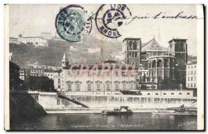 Old Postcard Lyon Cathedrale St Jean and & # 39archeveche