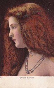 Woman , Art Nouveau hair dress , Pre-1907