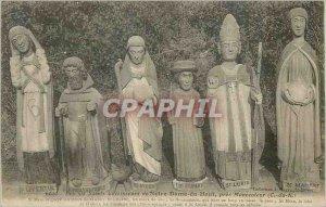 Postcard Ancient Near Moncontour (C N) Six Saints healers of Notre Dame du Haut