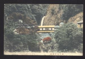 NUNOBIKI WATERFALL KOBE JAPANE COLOR JAPANESE VINTAGE POSTCARD