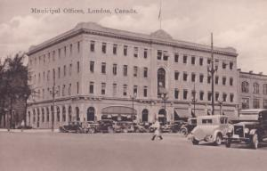 Municipal Offices London Canada Old Postcard