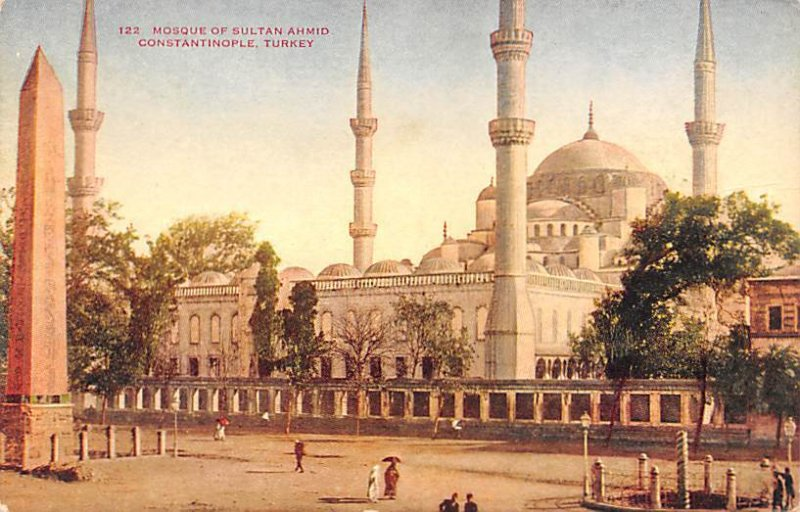 Mosque of Sultan Ahmid Constantinople Turkey Unused