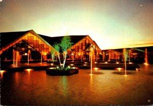 Oklahoma Oklahoma City National Cowboy Hall Of Fame Twilight On The Fountains...