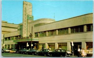 Cincinnati, Ohio Postcard GREYHOUND BUS DEPOT Station Street View c1950s Unused