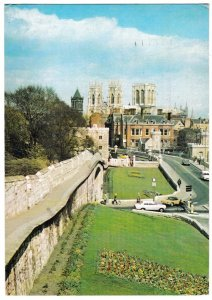 Postcard Yorkshire York Minster from the City walls ca 1990
