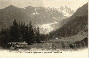 CPA Glacier d'ARGENTIERES et AIGUILLE du CHARDONNET (109323)