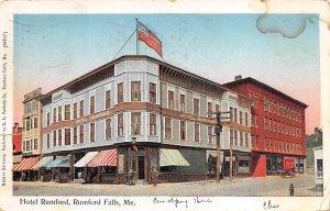Copper Window Postcard, Post Card Hotel Rumford Fumford Falls, Maine, USA 1906