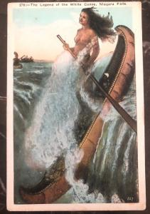 Mint USA PPC Picture Postcard Native American Indian Legend Of The White Canoe