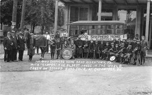 Allentown PA Horse Drawn Trolley Good Shepherd Home Band Real Photo Postcard