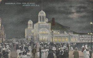 ATLANTIC CITY , New Jersey , 1906 ; Boardwalk at night