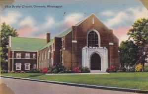 Mississippi Grenada First Baptist Church 1944