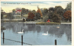 LPS31 Staunton Virginia Gipsy Hill Park Lake Postcard