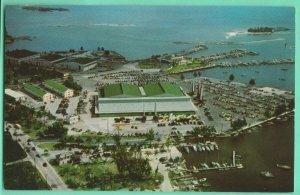 Convention Hall & Marina Dinner Key Coconut Grove Miami Air View Postcard