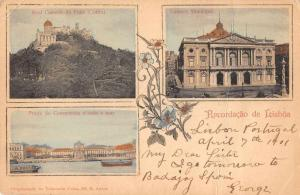 Lisboa Lisbon Portugal Multiview Buildings Antique Postcard J77845