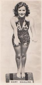 Mary Maguire Hollywood Actress Rare Real Photo Cigarette Card