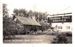 Andover New Brunswick Canada Trading Post Hand Weaving Real Photo PC AA11667