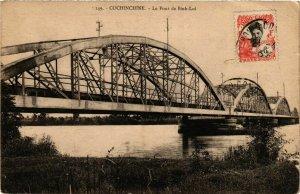 CPA AK INDOCHINA Cochinchine Le Pont de Binh-Loi VIETNAM (957541)