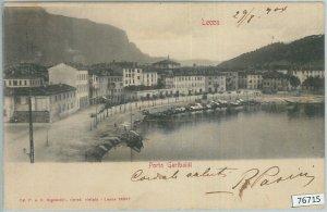 76715  - CARTOLINA d'Epoca -  LECCO Citta' :  PORTO GARIBALDI  1904