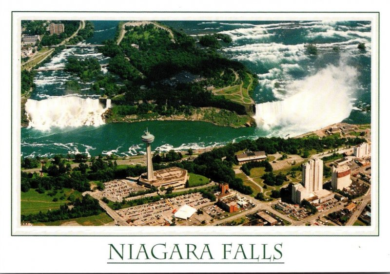 Canada Niagara Falls Aerial View Of American Falls
