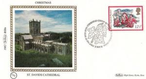 St Davids Cathedral Stamp Benham Xmas First Day Cover