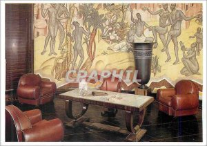 Postcard Modern Salon Paul Reynaud furniture ruhlmann bouquet of frescoes