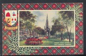 Scotland Postcard - MacLean Tartan - Princes Street Gardens, Edinburgh RS14465