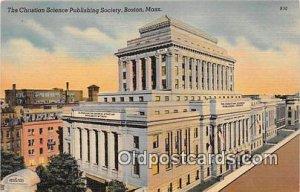 Christian Science Publishing Society Boston, Mass, USA Unused