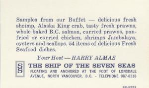 BC: N. VANCOUVER , B.C. , 50-70s ; Ship of the Seven Seas Restaurant