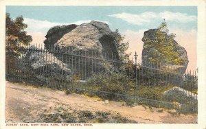 NEW HAVEN, CT Connecticut  JUDGES CAVE~West Rock Park Scene  c1920's Postcard