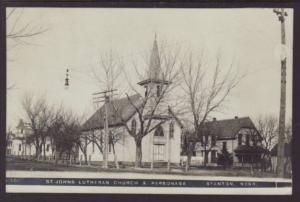 St Johns Lutheran Church Staton NE Postcard 4060