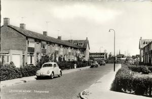 netherlands, LEIDSCHENDAM, Trompstraat, VW V.W. Beetle Car (1960s) RPPC
