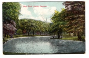 Frog Pond, Boston, Massachusetts, Used 1908 Flag Cancel