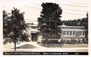 LPS57 New Liskeard Ontario ONT Canada Hill Clark Francis Office Postcard