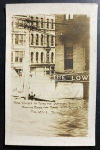 Mint USA RPPC Postcard Dayton Ohio High Water 3rd & Jefferson St Flood
