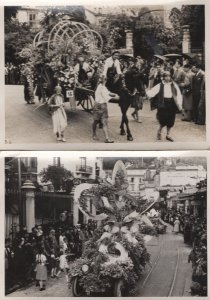 Montreux Switzerland 2x Procession Transport Carnival Postcard s